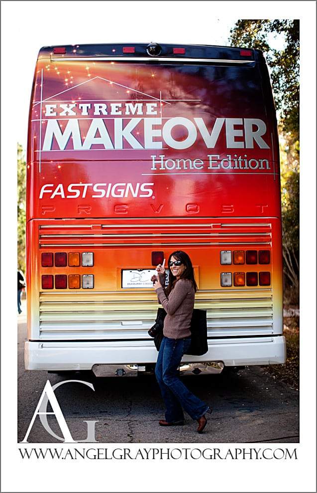 Back of Extreme Makeover Home Edition Bus by FastSigns