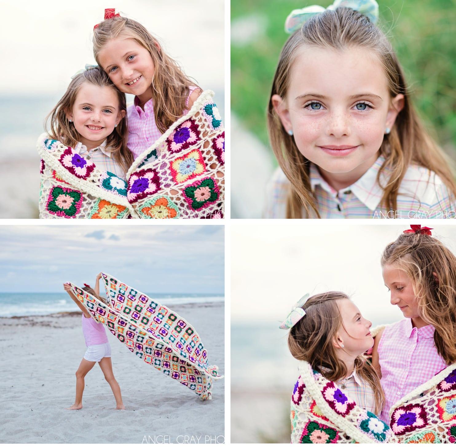 sisters portrait blanket
